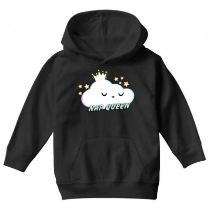 Nap Queen Youth Hoodie Designed By Seniha