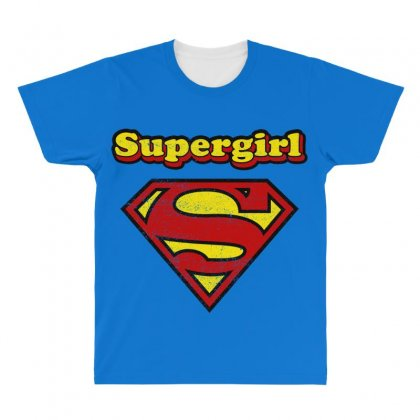Supergirl All Over Men's T-shirt Designed By Nurbetulk
