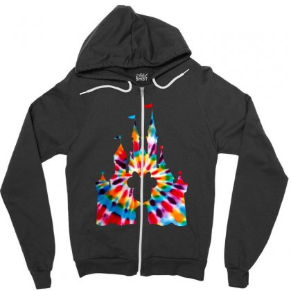 Tie Dye Disney Zipper Hoodie Designed By Sengul