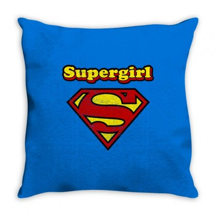 Supergirl Throw Pillow Designed By Nurbetulk