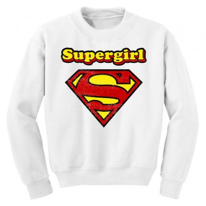 Supergirl Youth Sweatshirt Designed By Nurbetulk