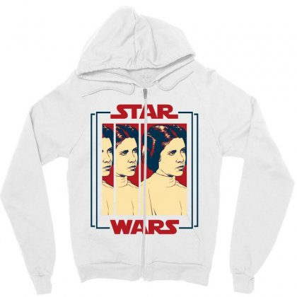 Star Wars Princess Leia For Light Zipper Hoodie Designed By Nurbetulk