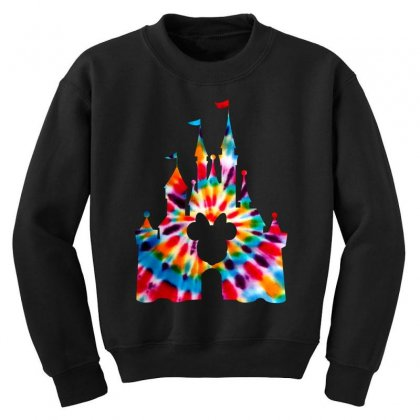 Tie Dye Disney Youth Sweatshirt Designed By Sengul