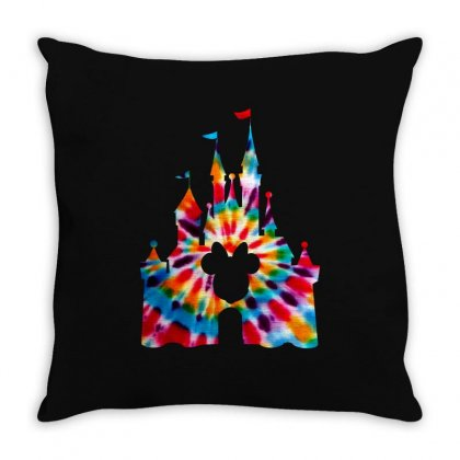 Tie Dye Disney Throw Pillow Designed By Sengul