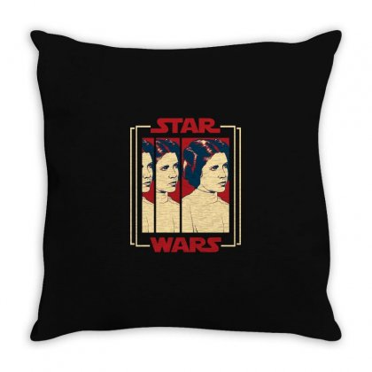 Star Wars Princess Leia For Dark Throw Pillow Designed By Nurbetulk
