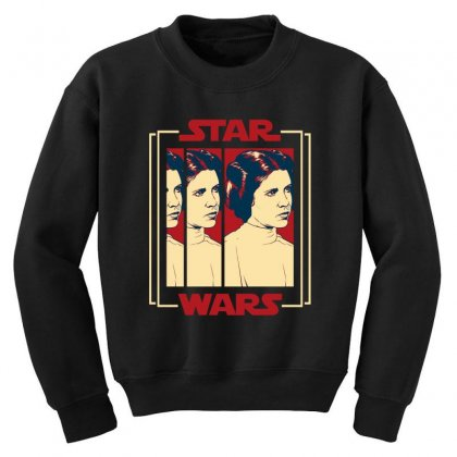 Star Wars Princess Leia For Dark Youth Sweatshirt Designed By Nurbetulk