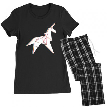 Origami Unicorn Women's Pajamas Set Designed By Sengul