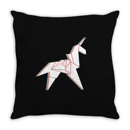 Origami Unicorn Throw Pillow Designed By Sengul