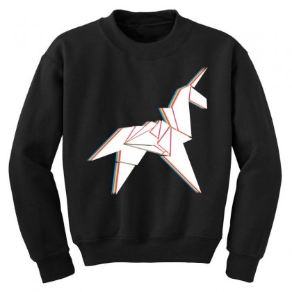 Origami Unicorn Youth Sweatshirt Designed By Sengul