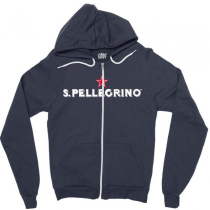 San Pellegrino For Dark Zipper Hoodie Designed By Nurbetulk