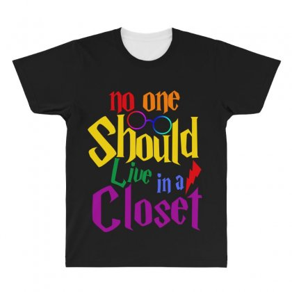 No One Should Live In A Closet All Over Men's T-shirt Designed By Sengul