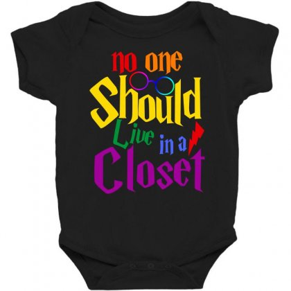 No One Should Live In A Closet Baby Bodysuit Designed By Sengul