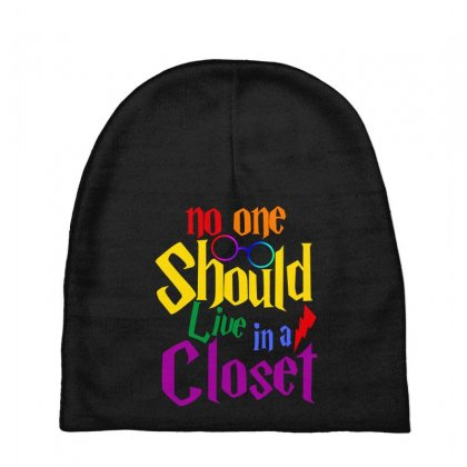 No One Should Live In A Closet Baby Beanies Designed By Sengul