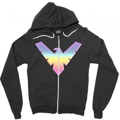 Nightwing Symbol Zipper Hoodie Designed By Sengul