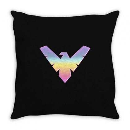 Nightwing Symbol Throw Pillow Designed By Sengul