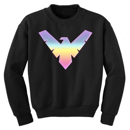 Nightwing Symbol Youth Sweatshirt Designed By Sengul