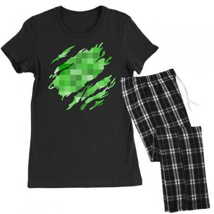 Minecraft Creeper Women's Pajamas Set Designed By Sengul