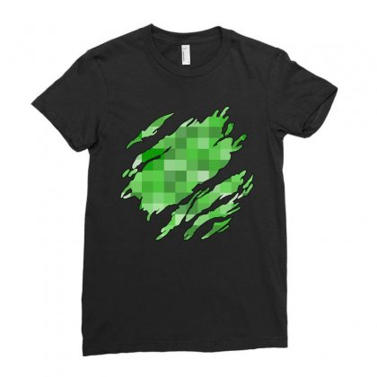 Minecraft Creeper Ladies Fitted T-shirt Designed By Sengul