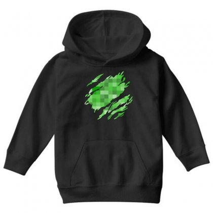Minecraft Creeper Youth Hoodie Designed By Sengul