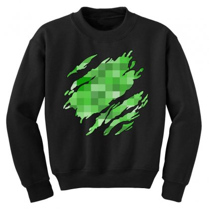 Minecraft Creeper Youth Sweatshirt Designed By Sengul