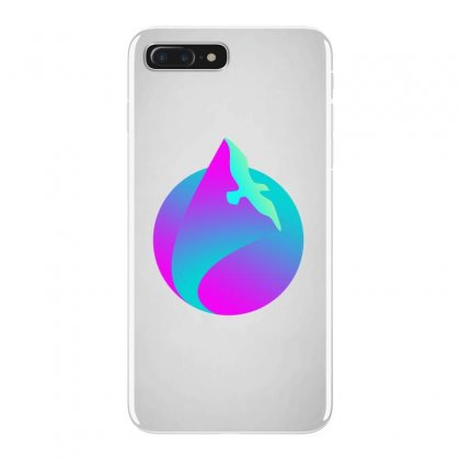 Vaporwave Gradient  Bird Flying Iphone 7 Plus Case Designed By Seniha