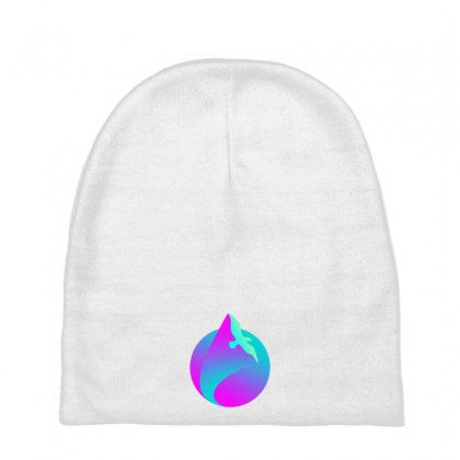 Vaporwave Gradient  Bird Flying Baby Beanies Designed By Seniha