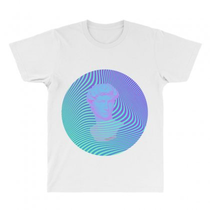 Vaporwave Sculpture Abstract Stripes All Over Men's T-shirt Designed By Seniha