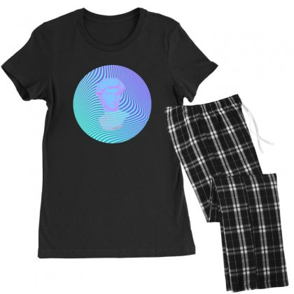 Vaporwave Sculpture Abstract Stripes Women's Pajamas Set Designed By Seniha