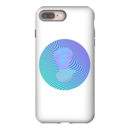 Vaporwave Sculpture Abstract Stripes Iphone 8 Plus Case Designed By Seniha