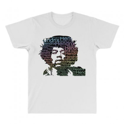 Jimi Hendrix All Over Men's T-shirt Designed By Sengul
