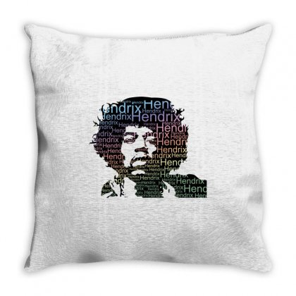 Jimi Hendrix Throw Pillow Designed By Sengul