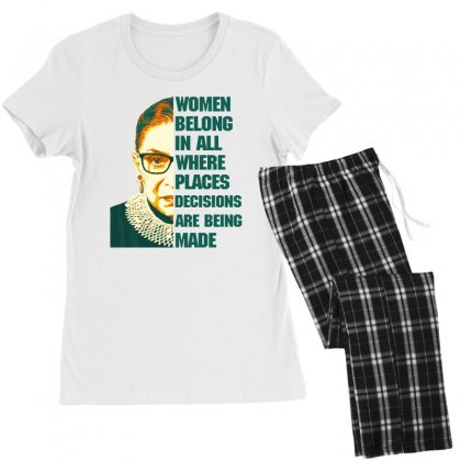 Women Belong In All Places Rbg Women's Pajamas Set Designed By Sengul