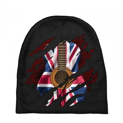 British Guitar Flag Inside Baby Beanies Designed By Sengul