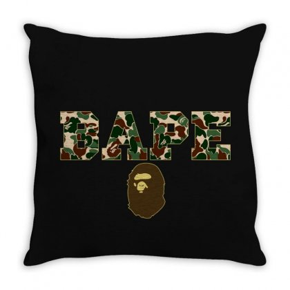 Bape Camo Throw Pillow Designed By Sengul