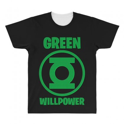 Green Willpower All Over Men's T-shirt Designed By Sengul