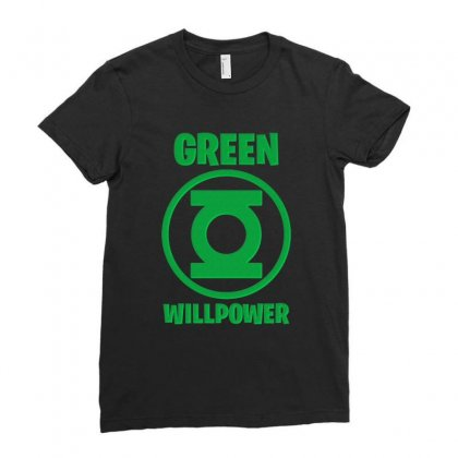 Green Willpower Ladies Fitted T-shirt Designed By Sengul