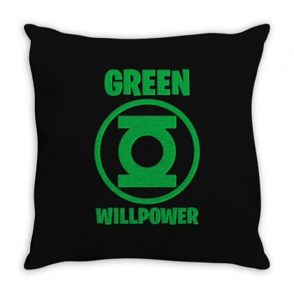 Green Willpower Throw Pillow Designed By Sengul