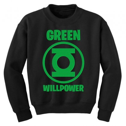 Green Willpower Youth Sweatshirt Designed By Sengul