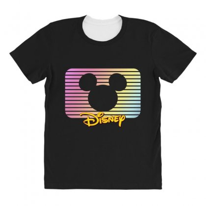 Disney Mickey Mouse All Over Women's T-shirt Designed By Sengul