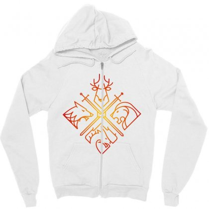 Game Of Thrones Houses For Light Zipper Hoodie Designed By Nurbetulk