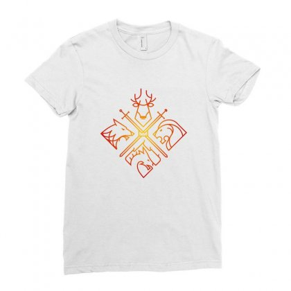 Game Of Thrones Houses For Light Ladies Fitted T-shirt Designed By Nurbetulk