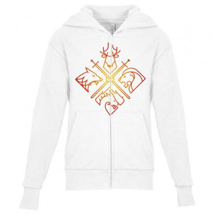 Game Of Thrones Houses For Light Youth Zipper Hoodie Designed By Nurbetulk