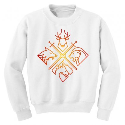 Game Of Thrones Houses For Light Youth Sweatshirt Designed By Nurbetulk