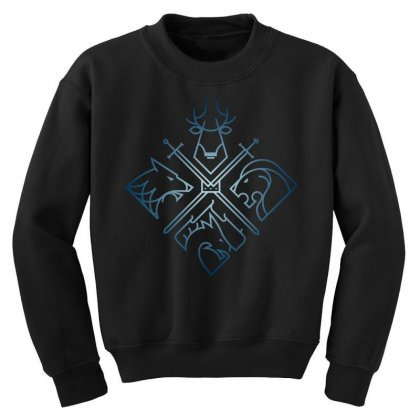 Game Of Thrones Houses For Dark Youth Sweatshirt Designed By Nurbetulk