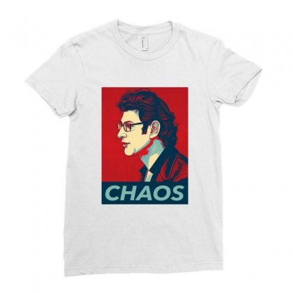 Dr Ian Malcolm Chaos Ladies Fitted T-shirt Designed By Nurbetulk