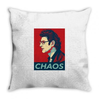 Dr Ian Malcolm Chaos Throw Pillow Designed By Nurbetulk