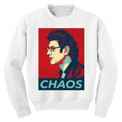 Dr Ian Malcolm Chaos Youth Sweatshirt Designed By Nurbetulk