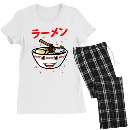 Cute Ramen For Light Women's Pajamas Set Designed By Nurbetulk