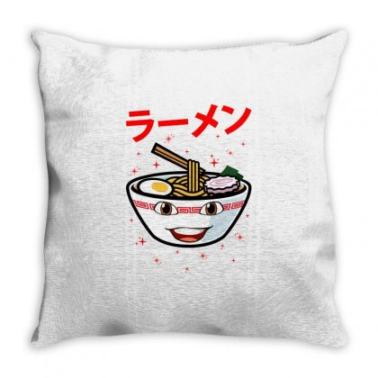 Cute Ramen For Light Throw Pillow Designed By Nurbetulk