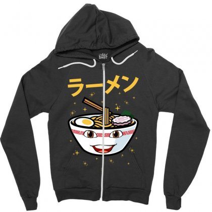 Cute Ramen For Dark Zipper Hoodie Designed By Nurbetulk
